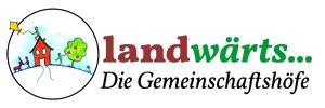 Landwärts Gemeinschaftshöfe. Leben mit Natur und Sinn. Logo